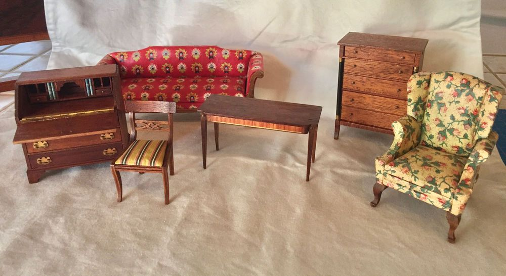 6 Pc Set Of Excellent Vintage LYNNFIELD Blockhouse Dollhouse Furniture |  EBay
