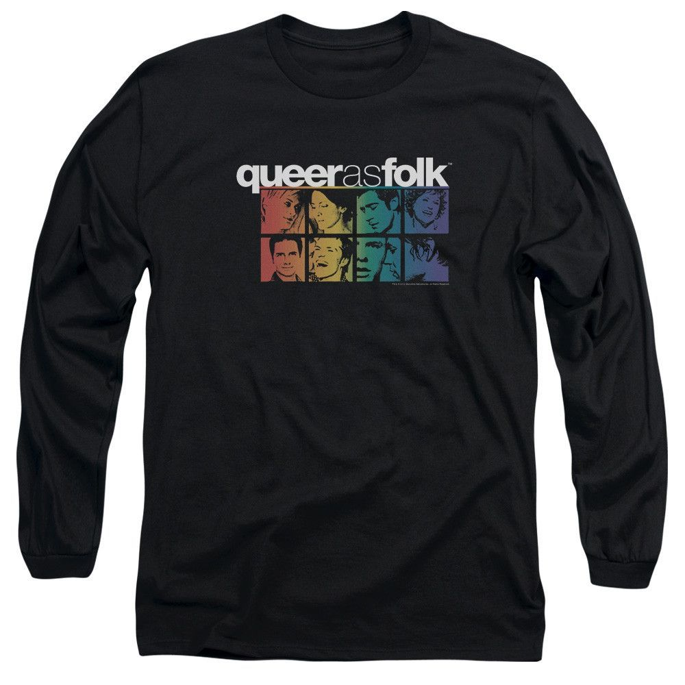 QUEER AS FOLK/CAST - L/S ADULT 18/1 - BLACK -