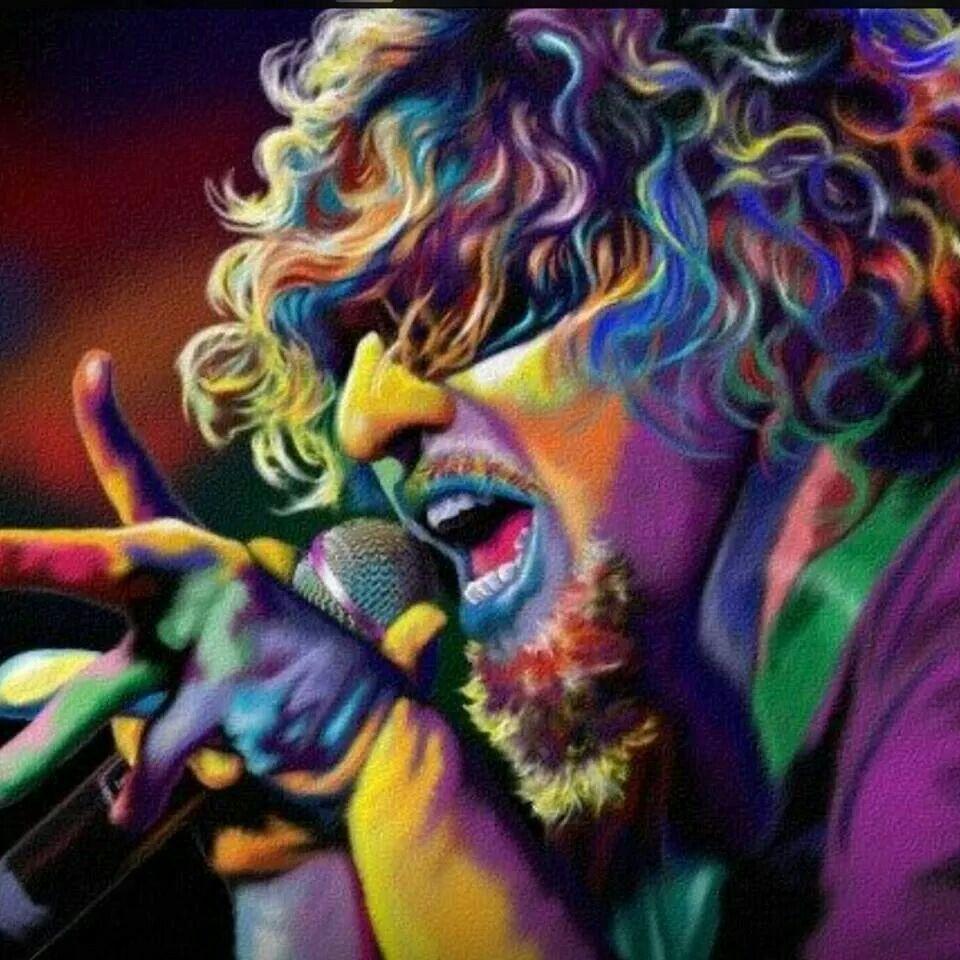 Beautiful Sammy Hagar Van Halen Colorful Portrait