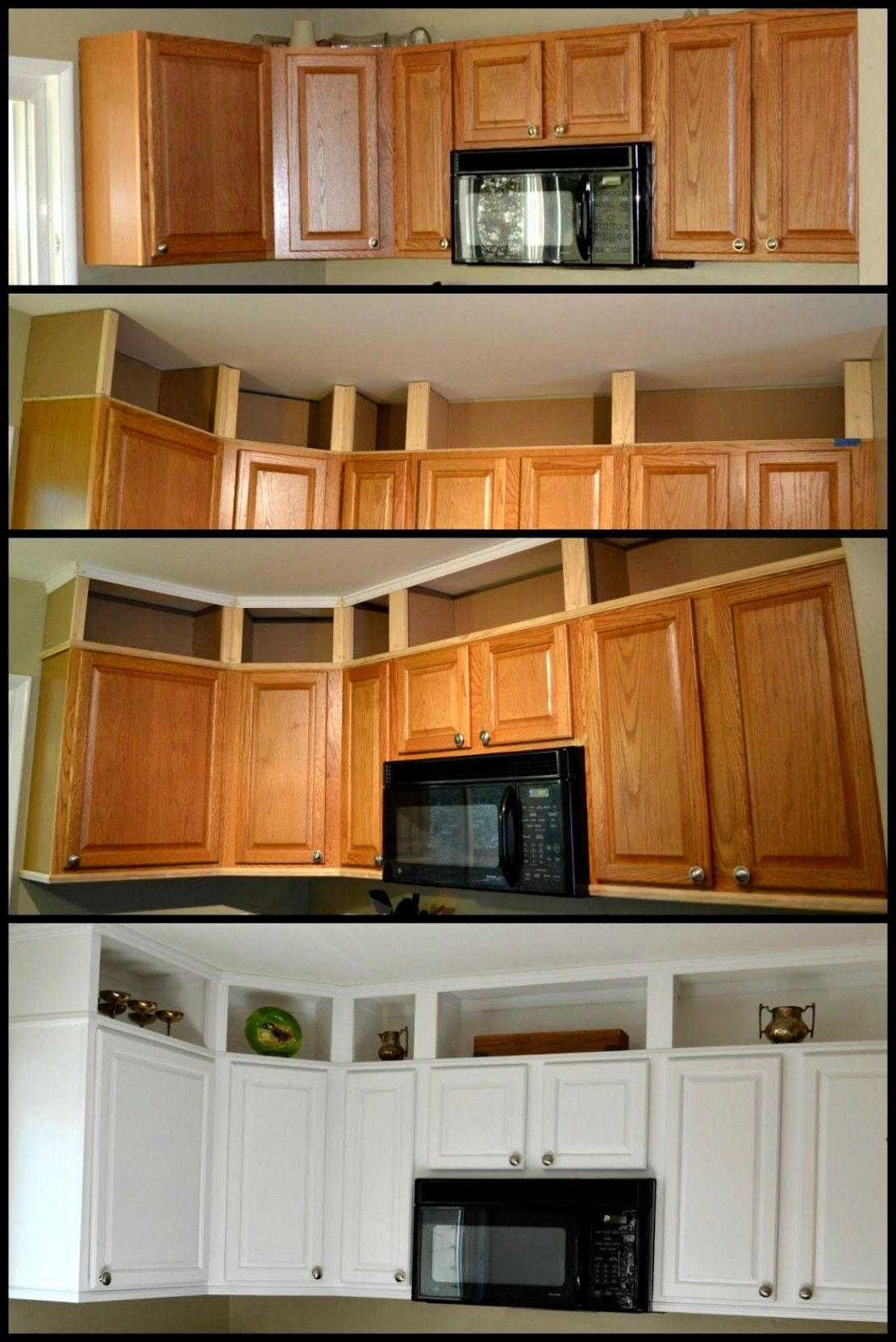 I Did It I Finished Painting The Kitchen Cabinets And It Is Done Before Easter I Had Given Myself This Arbitrary Deadline Diy Kitchen Cabinets To Ceiling Kitchen Redo