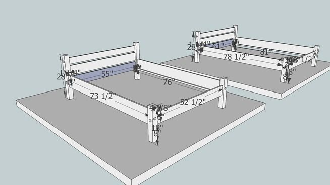 plans to diy a nice knockdown bed frame that will work great for larping camping and itu0027s easy to break down for traveling