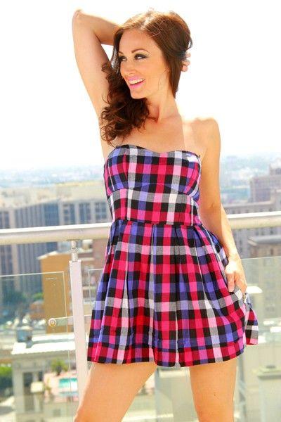515474cc260 Plaid schoolgirl tube mini dress  15 www.1015store.com