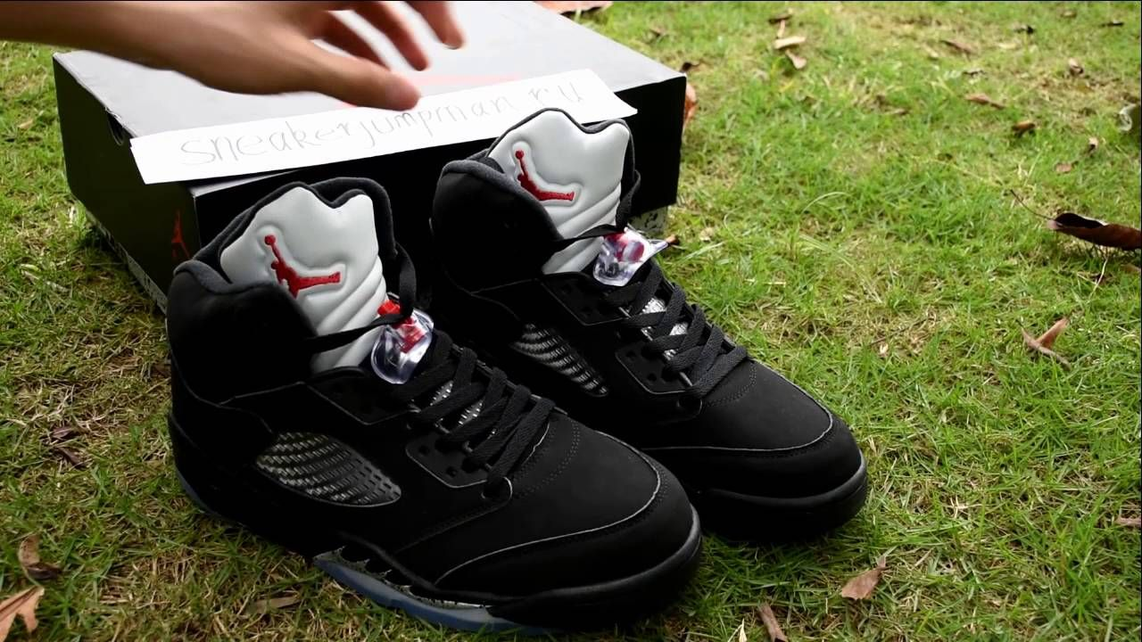 "19a43bf1e1b Authentic Air Jordan 5 Retro OG ""Black Metallic"" Unboxing Review - sneak."