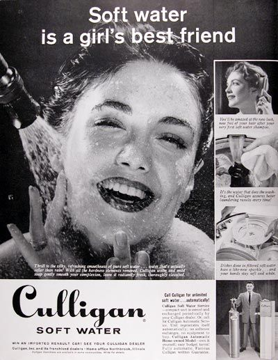 1959 Culligan Soft Water System Classic Vintage Print Ad Culligan Soft Water System Soft Water