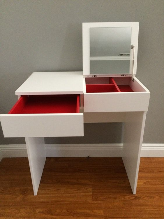Ikea Brimnes Dressing Table Jewelry Storage