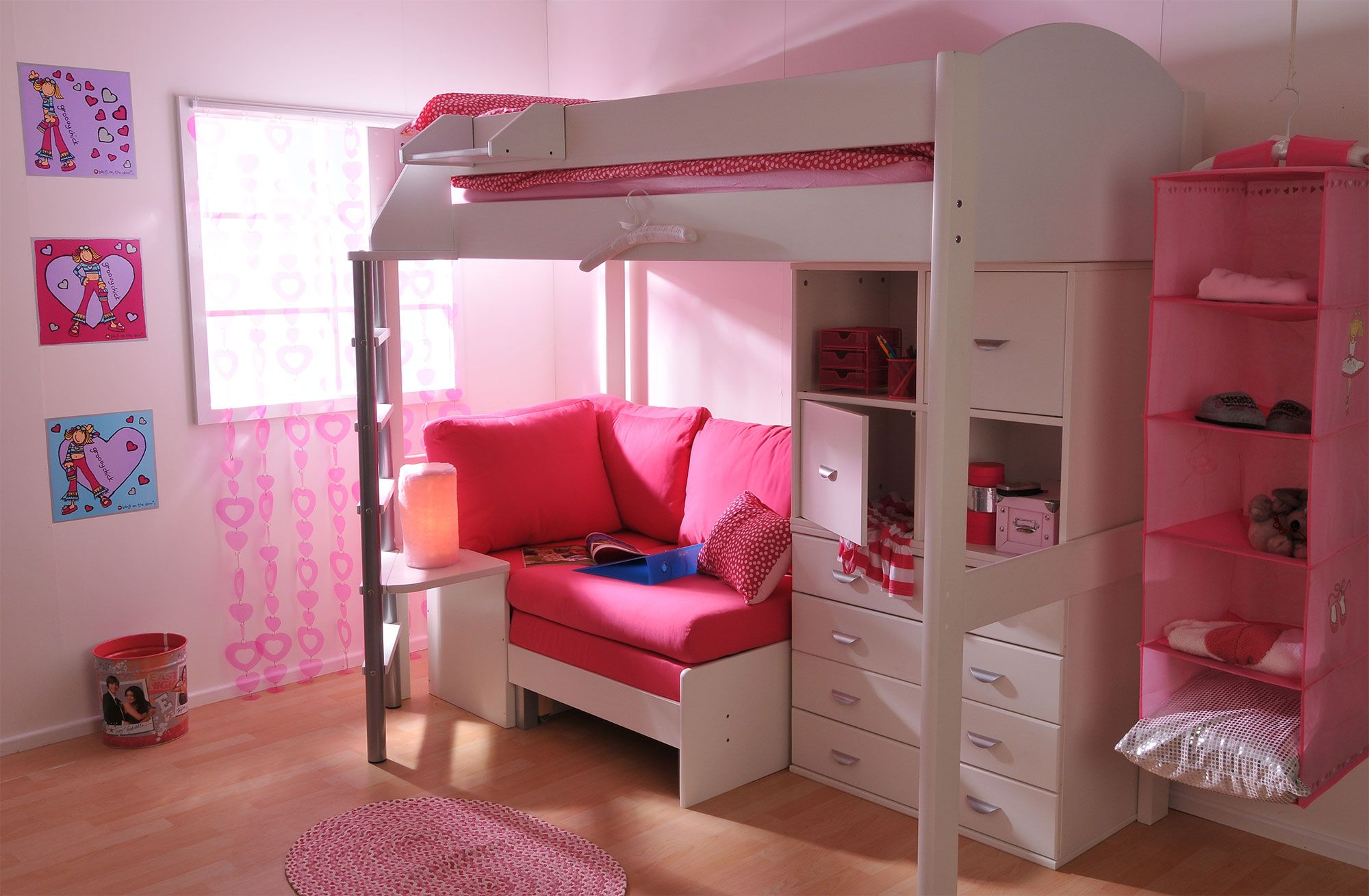 Stompa Casa 6 High Sleeper Bunk Bed With Desk High