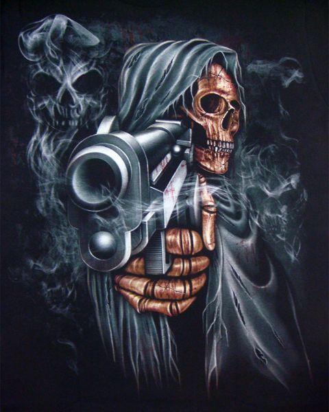 Grim Reaper Holding A Gun Skulls Pinterest Grim Reaper