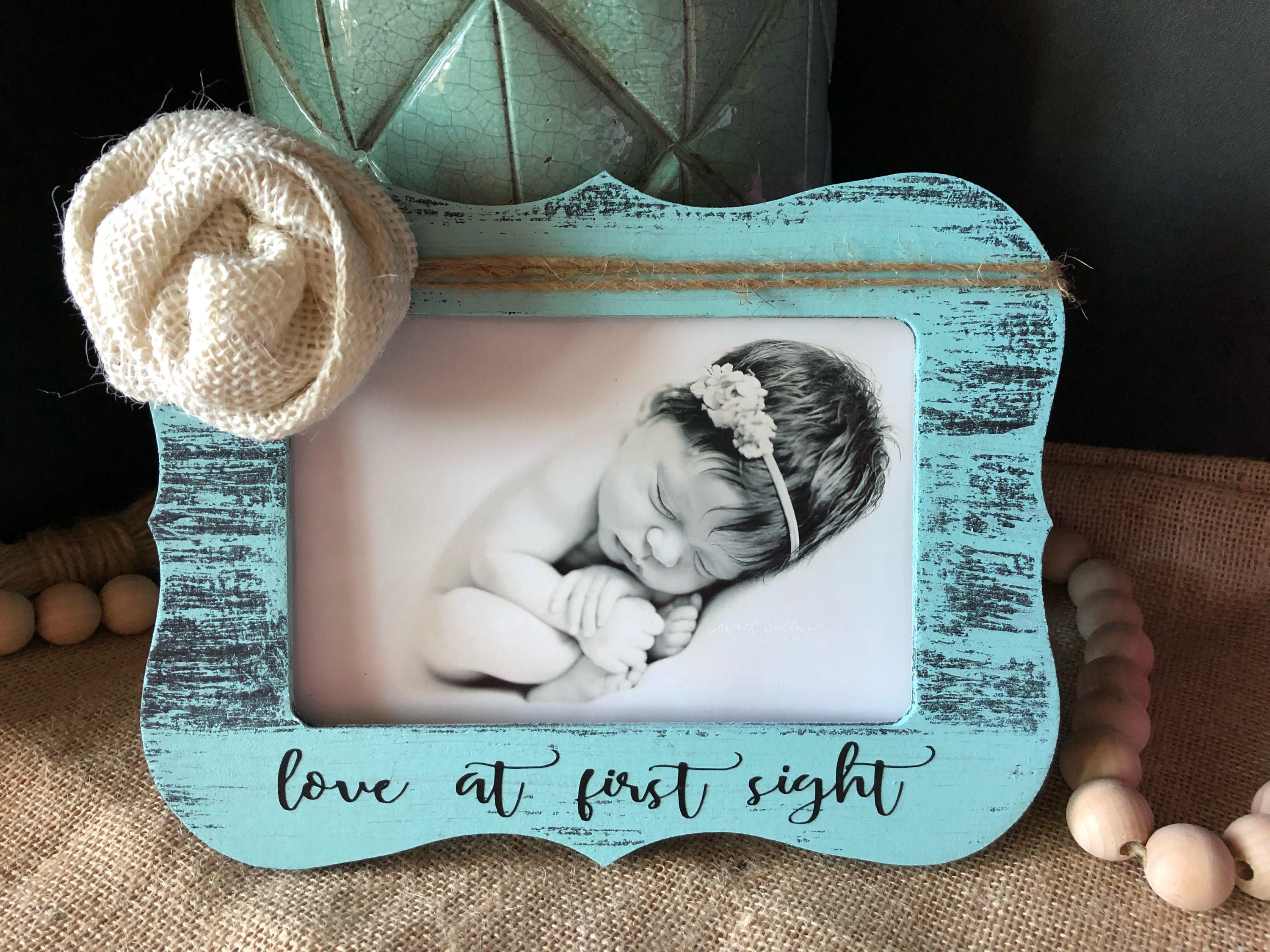 Love at first sight picture frame new baby gift personalized love at first sight picture frame new baby gift personalized baby gift ultrasound picture jeuxipadfo Images