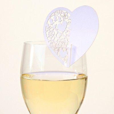table mariage marque place coeur dentelle blanc
