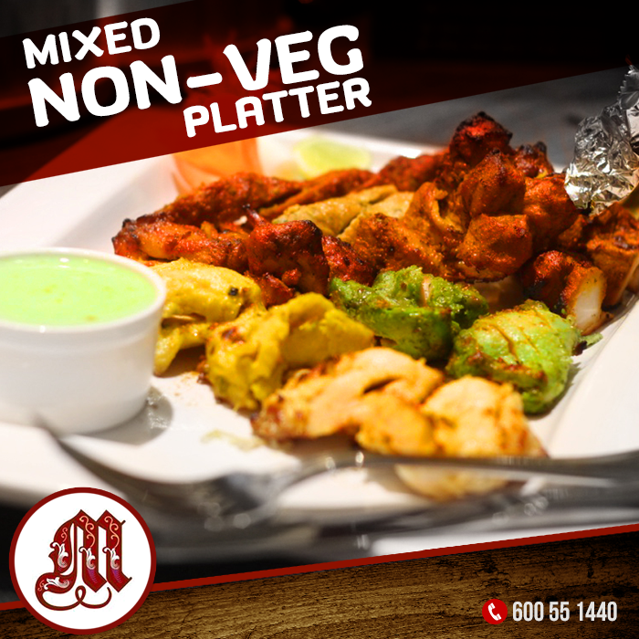 Prepared From The Best Quality Meat Mixed Non Veg Platter At Mezbaan Restaurant Is A Complete Assortment Of A Combination O Vegetarian Recipes Food Food Lover