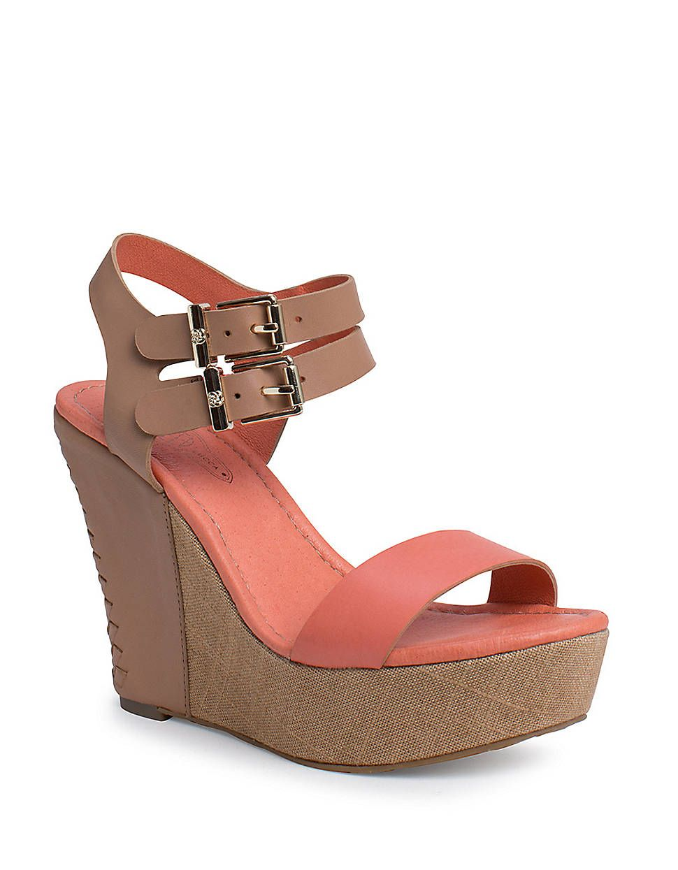c9bc87950bf Giulia Double Ankle Strap Platform Wedge Sandals