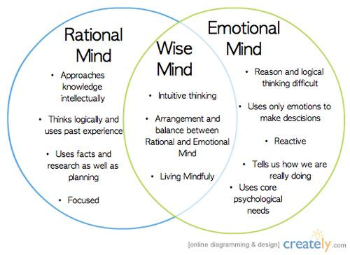 Wise Mind Is A State Of Mind That Integrates Logical Thinking With