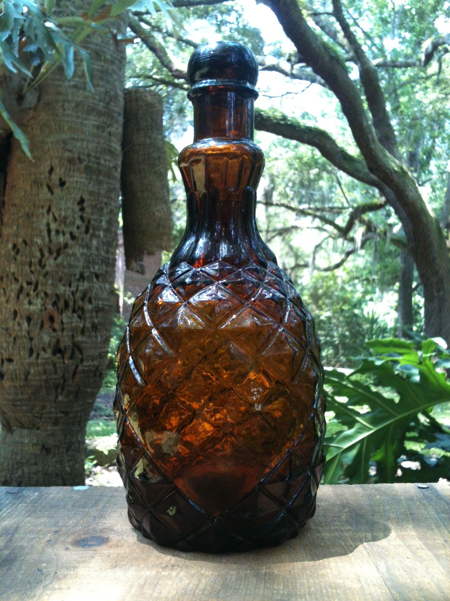 Pineapple bitters bottle circa 1870s old bottles