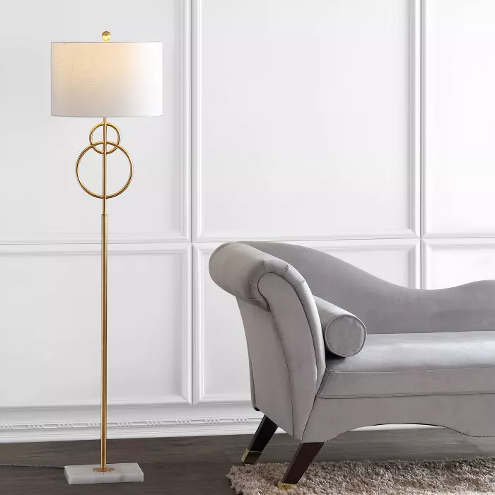 60 Marble Haines Modern Circle Floor Lamp Includes Led Light Bulb Gold Jonathan Y Target In 2020 Gold Floor Lamp Stylish Floor Lamp Led Floor Lamp