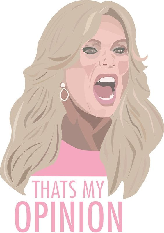 Tamra Judge Thats My Opinion Greeting Card By Realhousewives Tamra Judge Real Housewives My Opinions