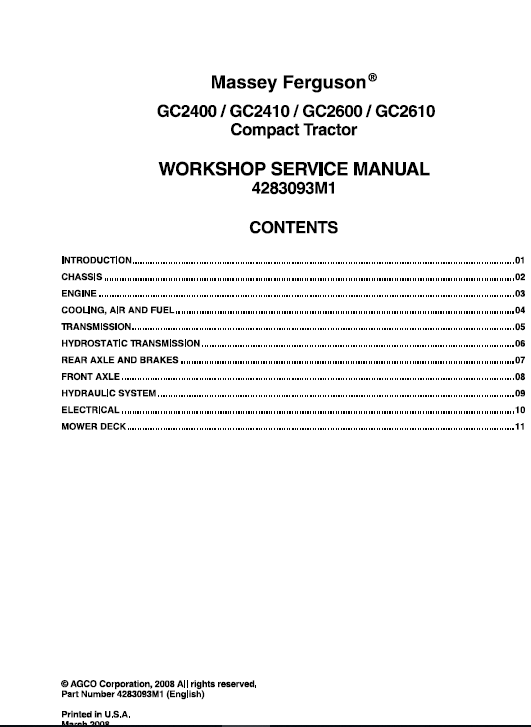 Owners Manual Massey Ferguson 231