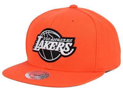 5128456b80e84 Los Angeles Lakers Mitchell and Ness NBA Team BW Snapback Hat