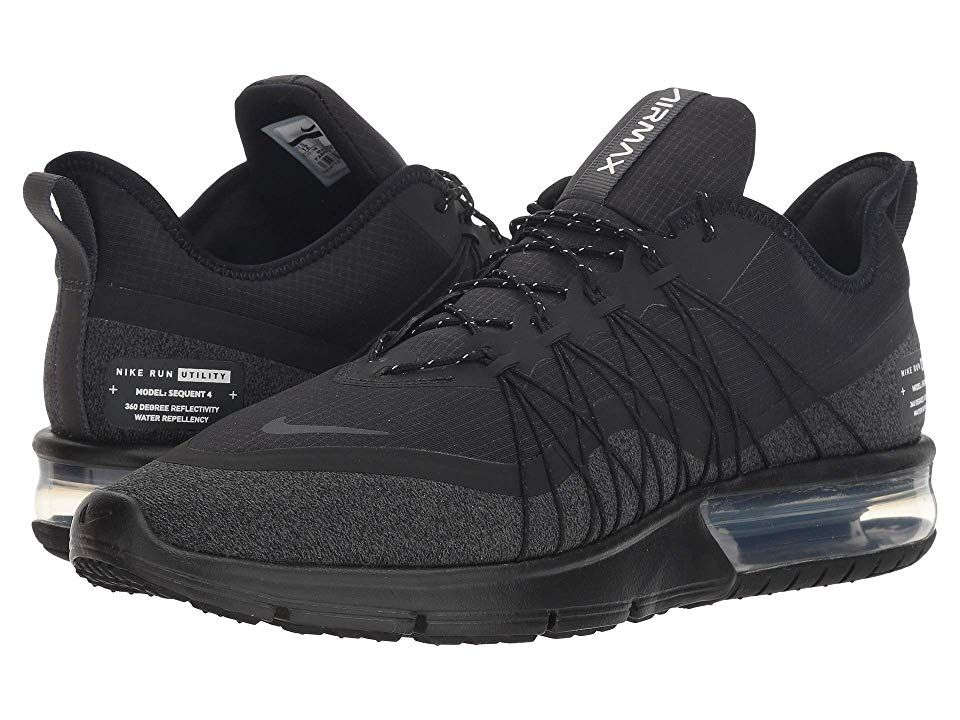 80c01dfec3193 Nike Air Max Sequent 4 Shield Men's Running Shoes Black/Anthracite/White