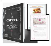 Créez un carnet des fameuses recettes de votre maman et faites lui un joli cadeau personnalisé pour la fête des mères!