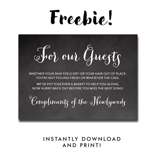 Free Printable Wedding Sign Chalkboard Peoni For Our Guests Bathroom Sign Instant Download Instant Download Printables Wedding Chalkboard Signs Free Wedding Printables Wedding Signs
