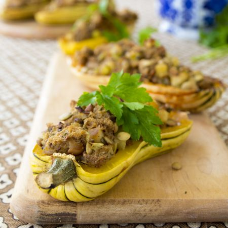 Delicata squash with thanksgiving stuffing | Recipe | Posts, It is and ...