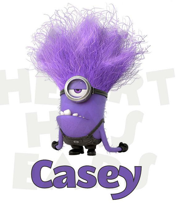 Printable DIY Evil purple Minion with by MyHeartHasEars on Etsy