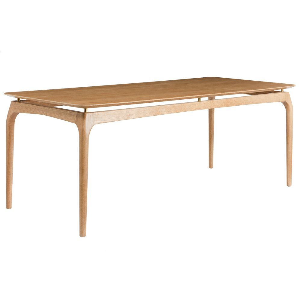 Solid Oak Dining Table Natural Red Edition Design Adult Table