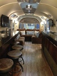 Announcing Flairstream A Luxurious Vintage Airstream Rental In Austin Airstream Interior Vintage Trailer Interior Airstream Remodel
