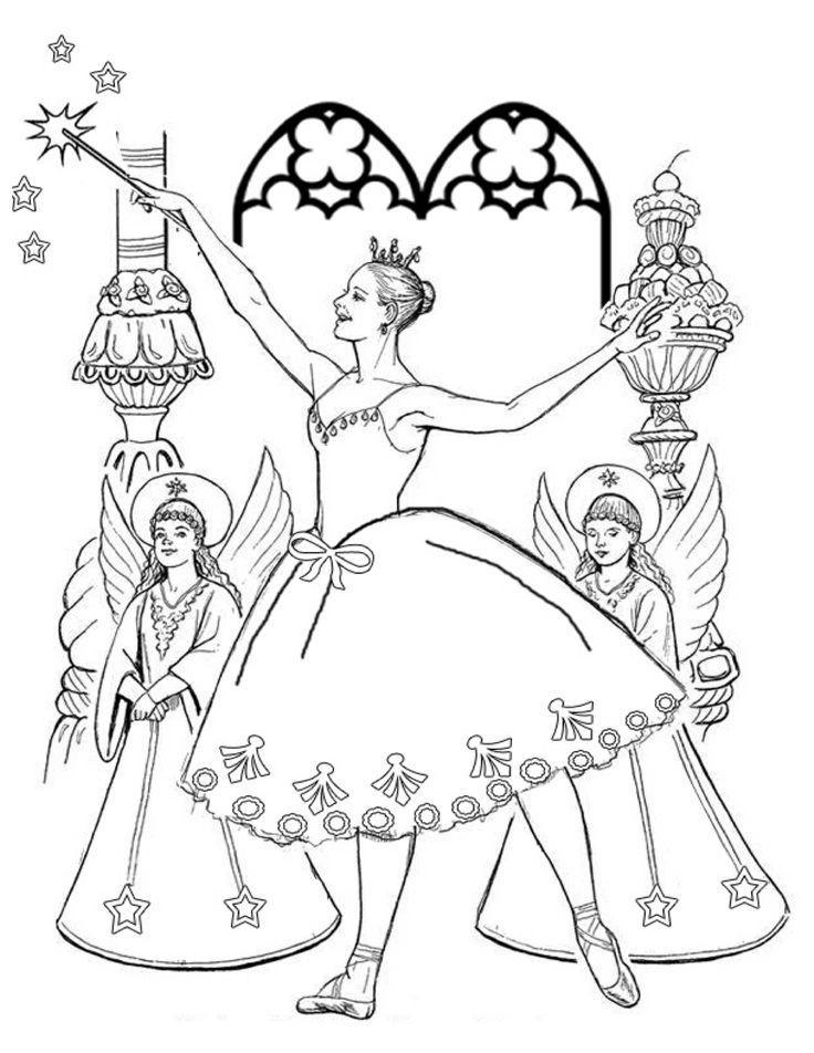 Sugar Plum Fairy Nutcracker Coloring Page Fairy Coloring Pages Fairy Coloring Coloring Pages