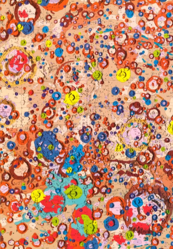 A U.S.G.S. geological map of the far side of the moon.