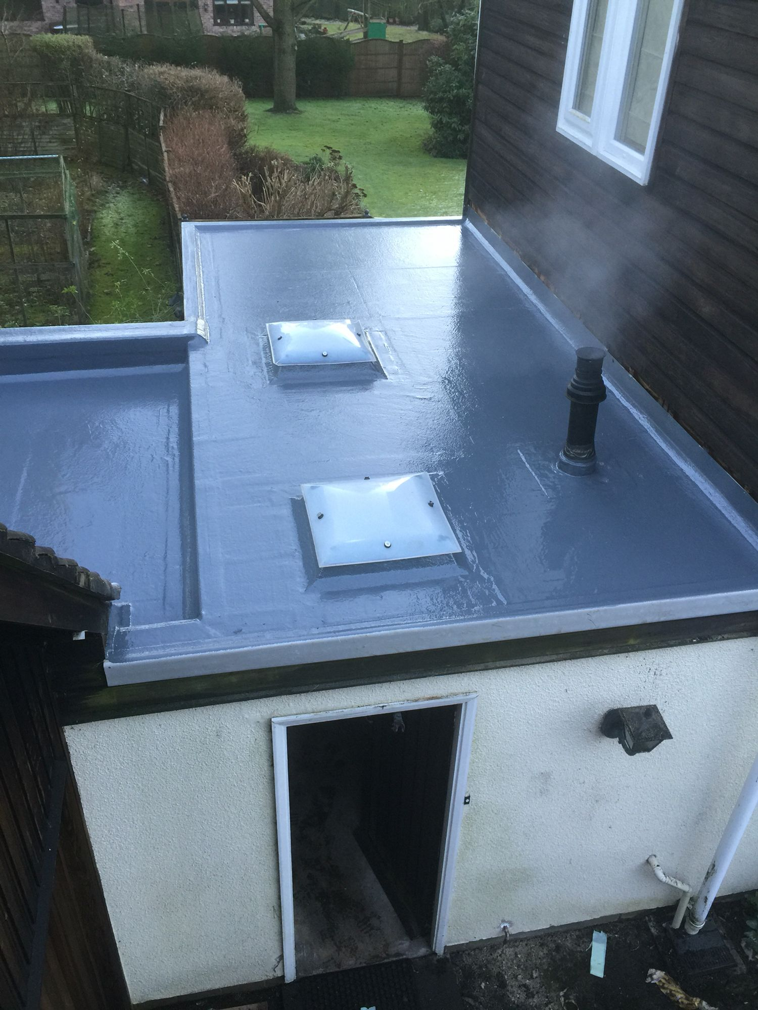 Fibreglass flat roofing specialists! 25 year guarantee ...