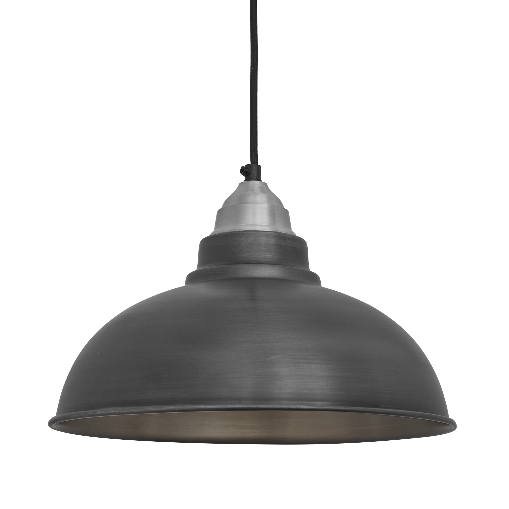 Old factory vintage pendant light dark grey pewter 12 inch old factory vintage pendant light dark grey pewter 12 inch arubaitofo Image collections