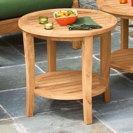 Charming Seneca Round Side Table.