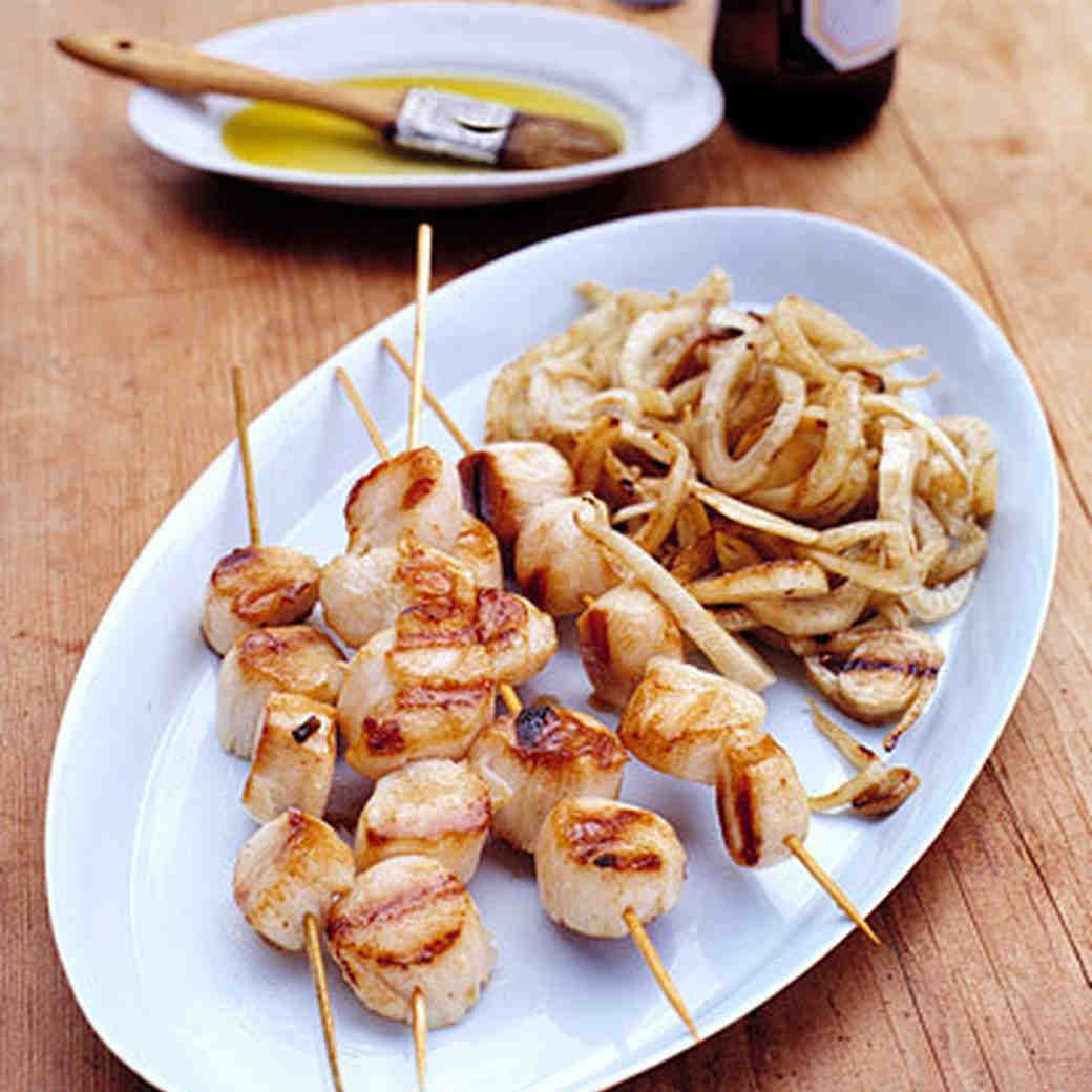 Grilled Sea Scallops and Fennel Recipe Grilled sea