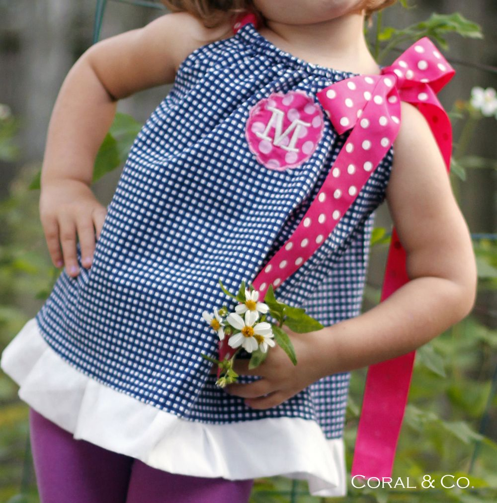 Free Pillowcase Dress Sewing Pattern. Easy A-line top that can be ...