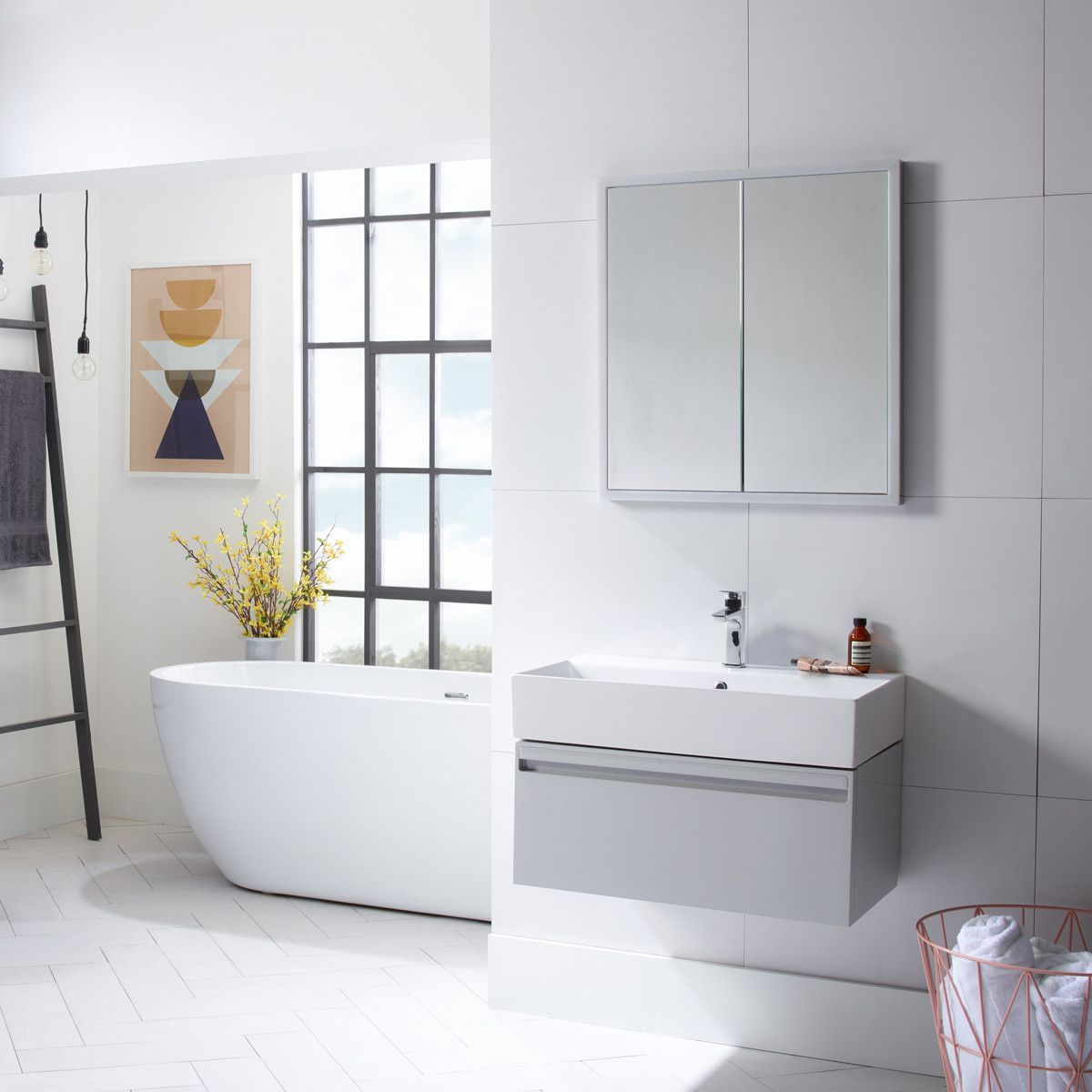 Tavistock Nook Double Door LED Mirror Cabinet 650 x 700 with Shaver ...