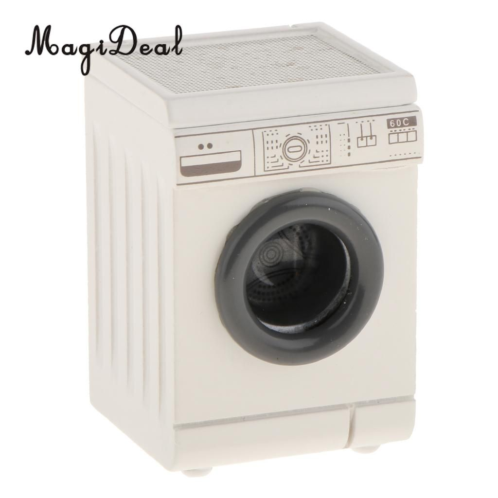 Photo of R$25.32 50% de desconto 1/12 casa de bonecas, miniatura rolo máquina de lavar roupa aparelho de casa decoração banheiro mobília acc crianças brinquedo Móveis de brinquedos    – AliExpress