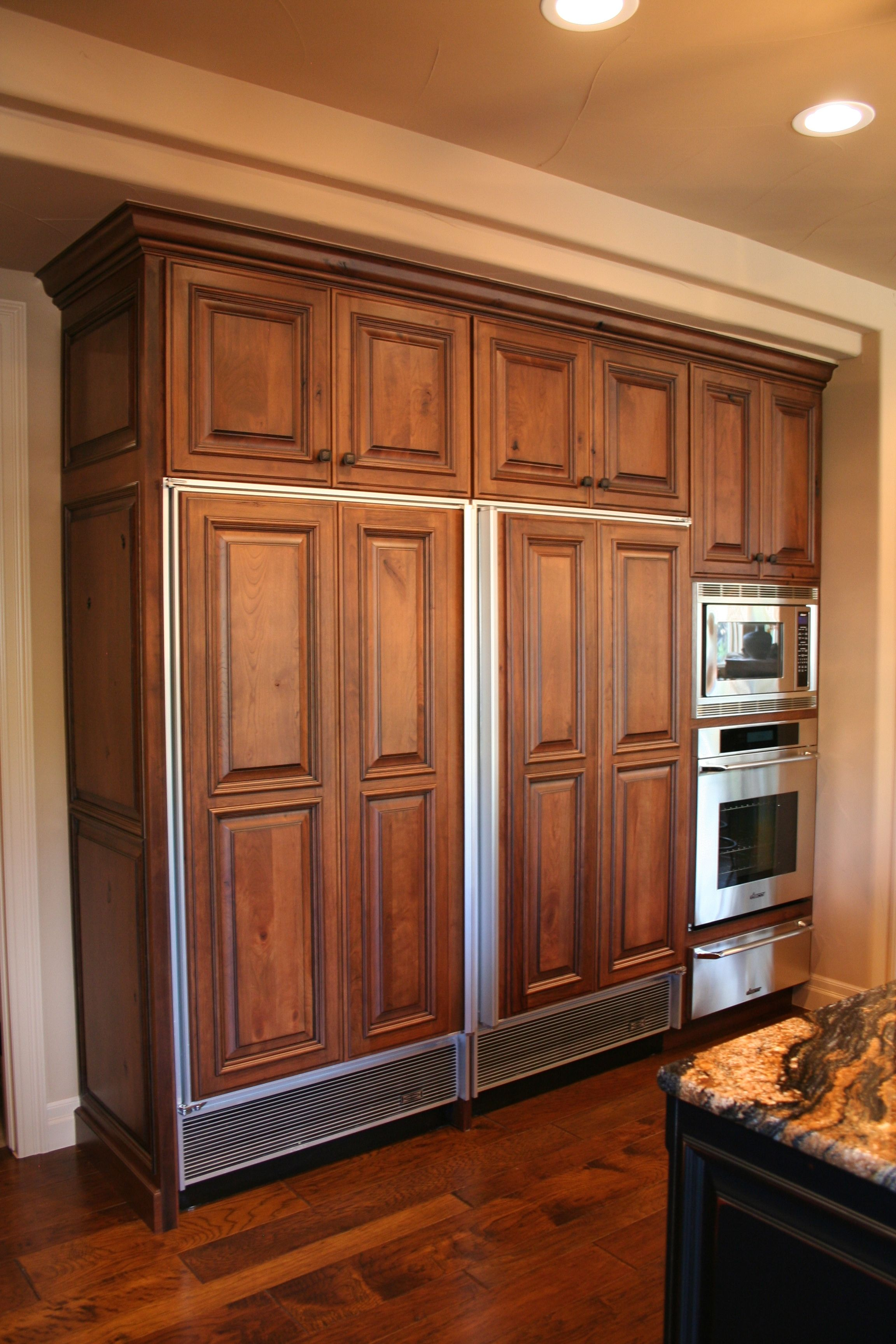Bkc Kitchen And Bath Crystal Cabinet Works Custom Door Style Wheaton Finish With A Black Glaze On Ru Cabinets And Countertops Cabinetry Cabinet Door Styles
