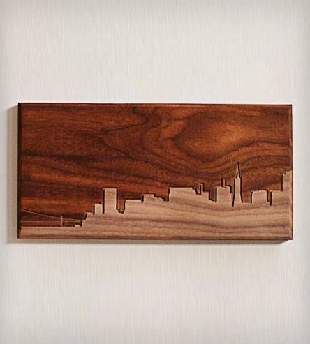 San Francisco Skyline Wood Art 4 X 8 Wood Art Woodworking Wood