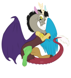Size: 1000x1100   Tagged: artist:kumapony, artist:rainbowdrool, discord, safe, simple background, solo, transparent background