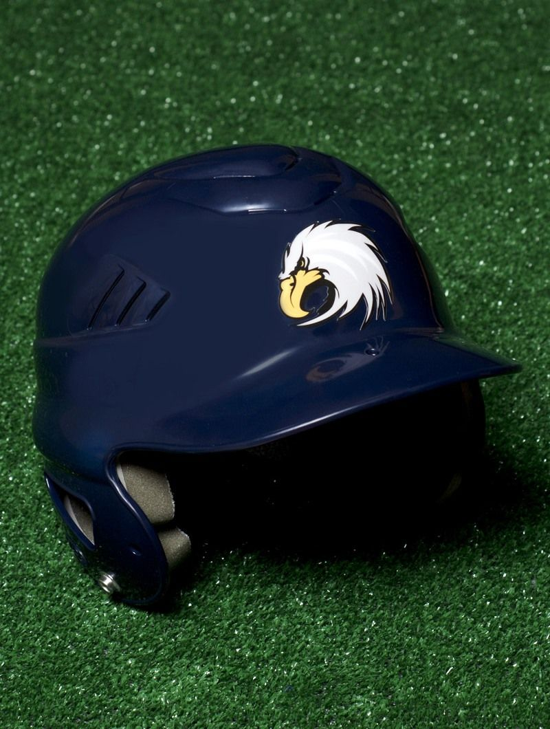 Baseball helmet decal