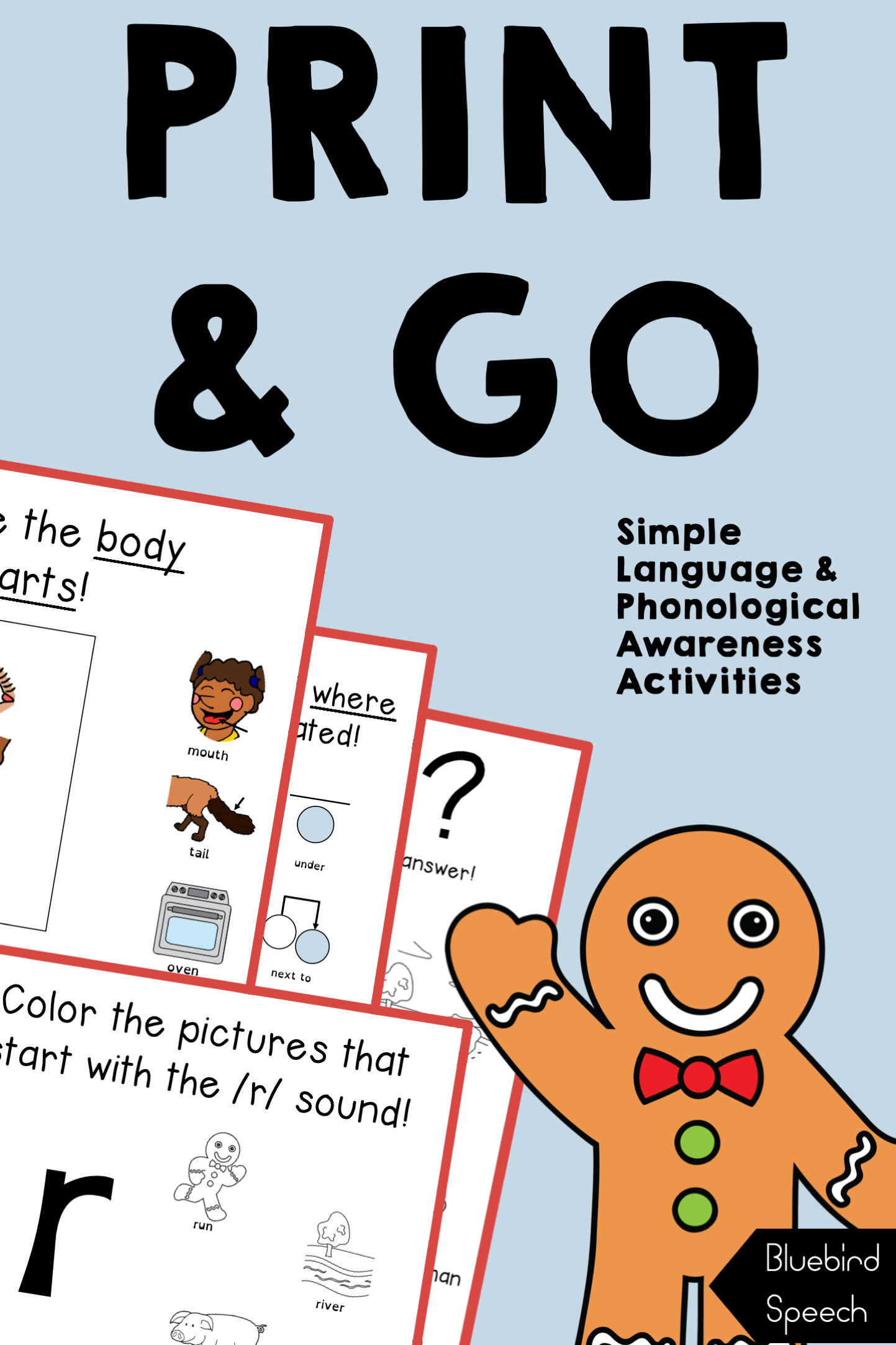 Distance Learning The Gingerbread Man Book Companion For