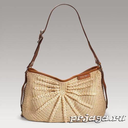Стильная сумочка крючком, схема | вязание | Pinterest