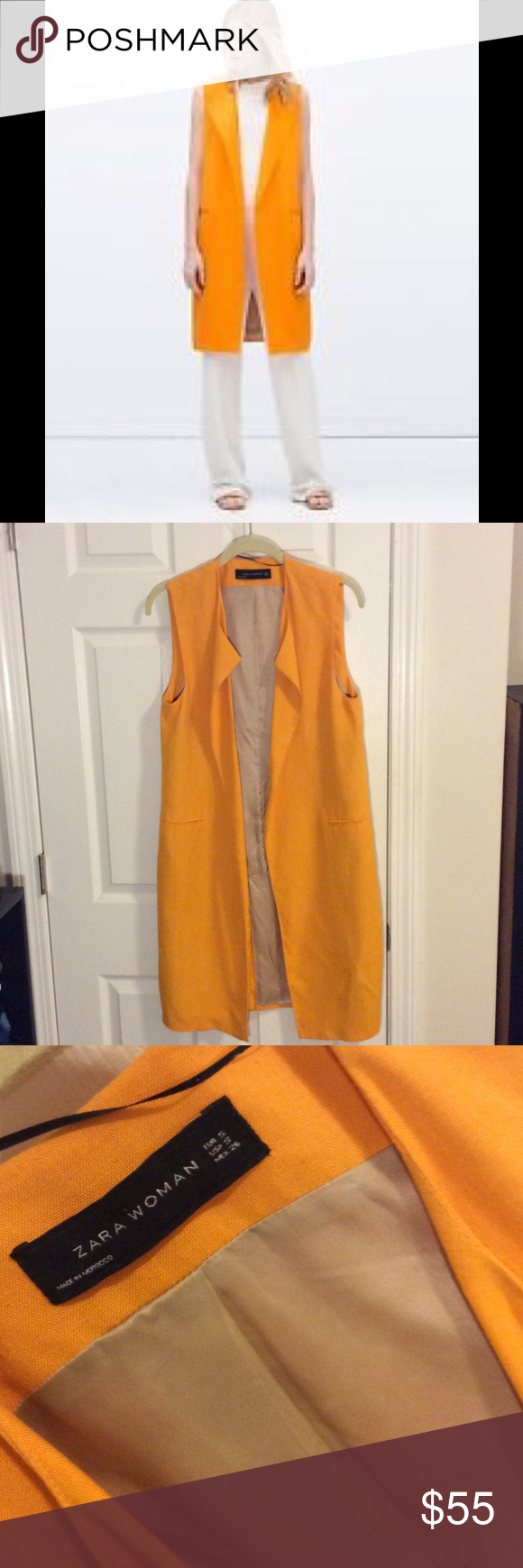 Zara Orange Waistcoat | Zara jackets, Coats and Tunics