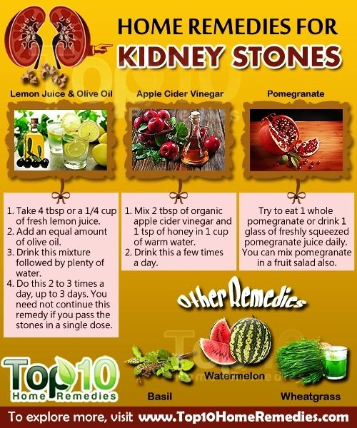 Home Remedies To Dissolve Kidney Stones Naturally