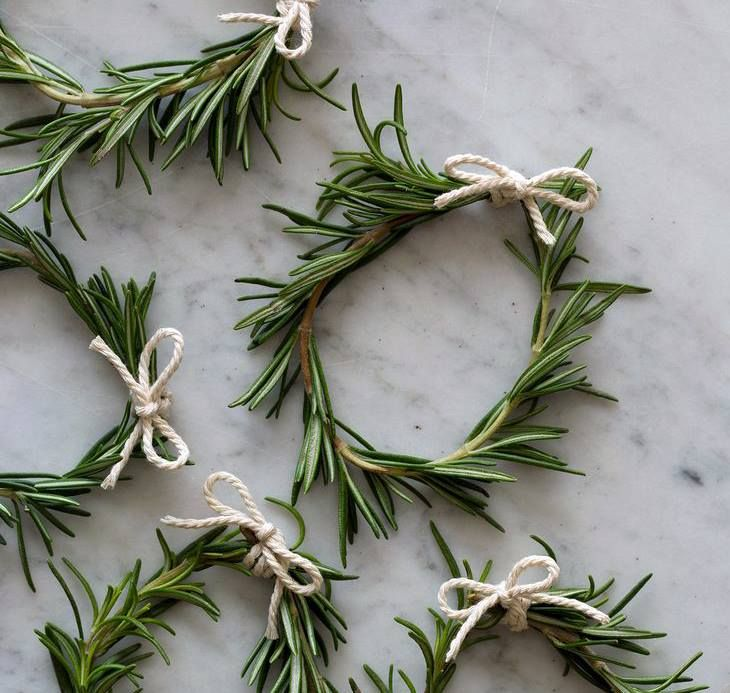 Rosemary napkin rings - great idea!