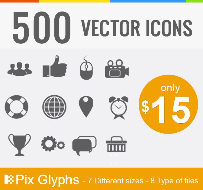 500 Vector Pictograms - only $15! - MightyDeals