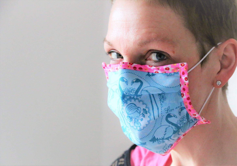 Mundschutz nähen GratisAnleitung mit Schnittmuster