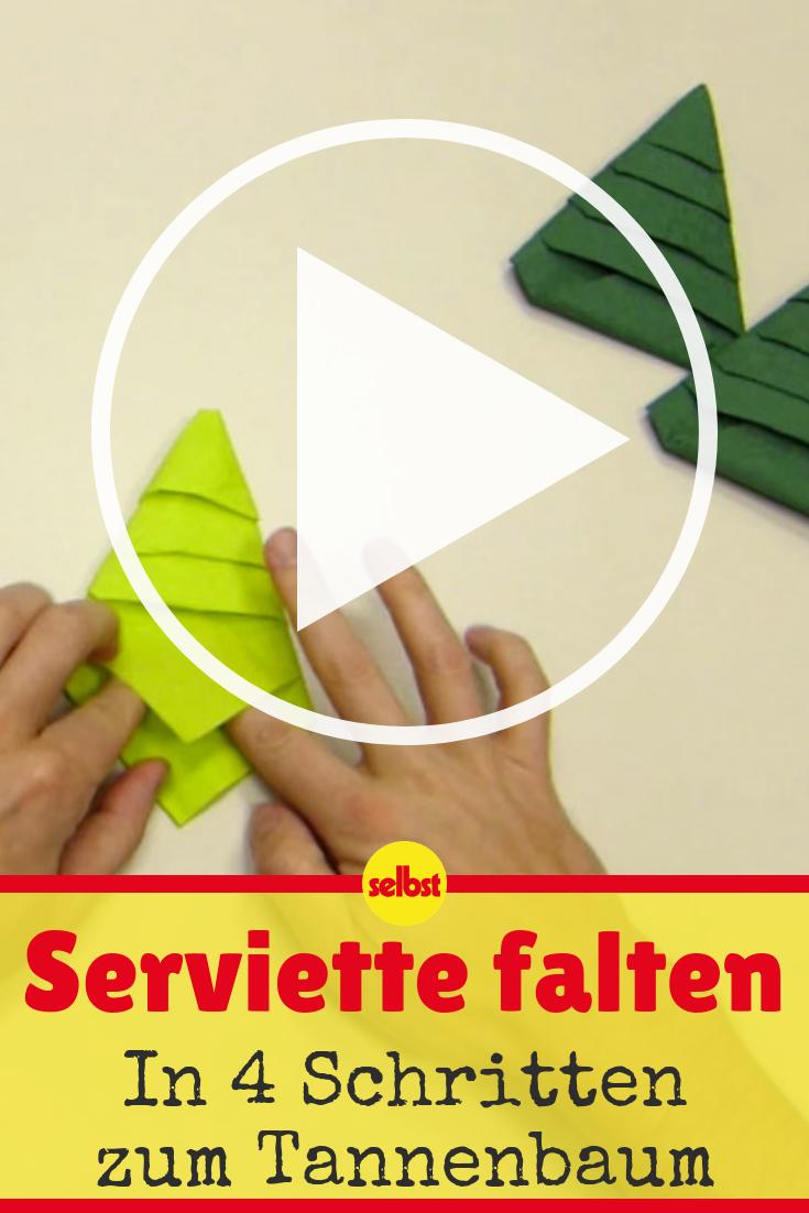 Serviette falten: Tannenbaum!