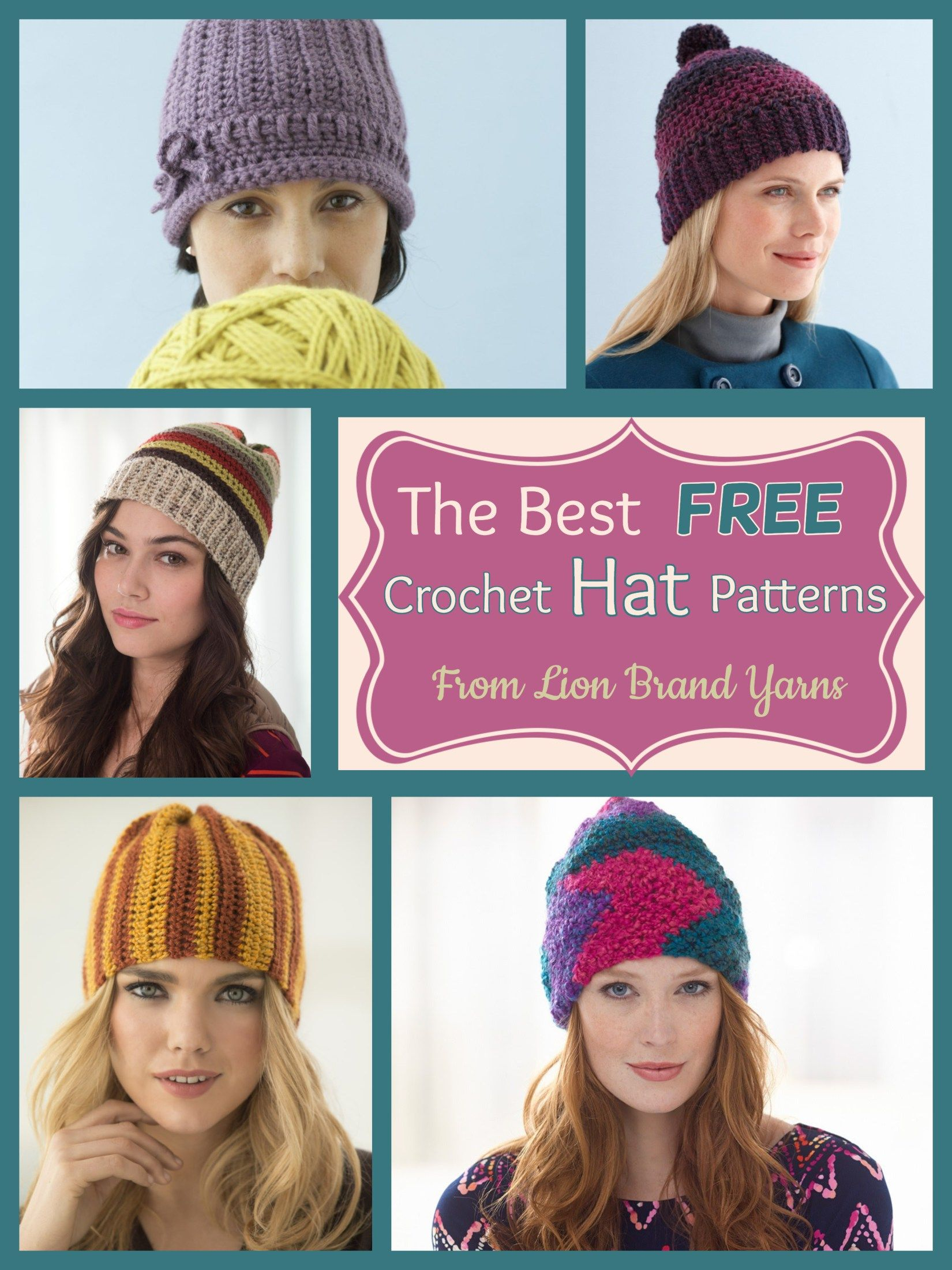 Best Free Crochet Hat Patterns From Lion Brand Yarns Free Crochet